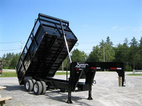 Heavy duty deck over dump trailers