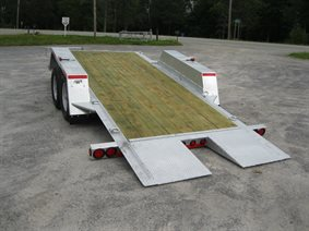 low bed tilting bed trailer