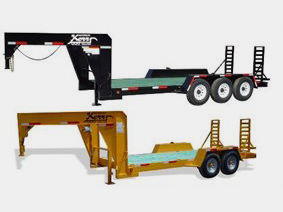 Gooseneck or fifthwheel equipment trailer