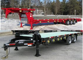 Deck over flat bed platform trailer