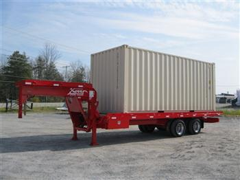 Sliding axle trailers to move sea containers