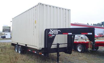 Kerr Trailers has designed a container chassis for light transport.